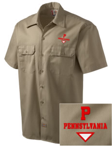 Pitcairn Embroidered Dickies Men's Short-Sleeve Workshirt