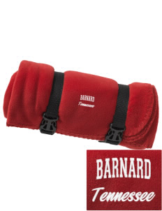 Barnard Embroidered Fleece Blanket with Strap