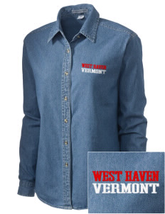 West Haven Embroidered Women's Denim Long Sleeve