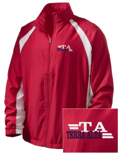 Terra Alta  Embroidered Men's Full Zip Warm Up Jacket