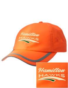 Hamilton Elementary School Hawks  Embroidered Safety Cap