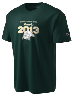 Hamilton Elementary School Hawks Champion Men's Tagless T-Shirt