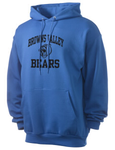 Browns Valley Elementary School Bears Men's 7.8 oz Lightweight Hooded Sweatshirt