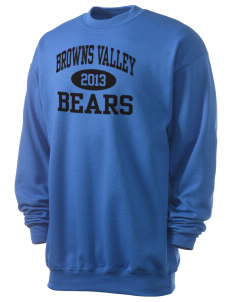 Browns Valley Elementary School Bears Men's 7.8 oz Lightweight Crewneck Sweatshirt