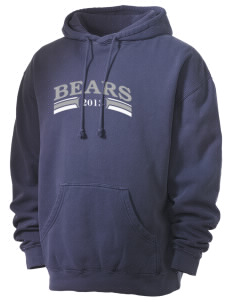 Browns Valley Elementary School Bears Men's 80/20 Pigment Dyed Hooded Sweatshirt