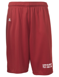 "West Seattle YMCA Dolphins  Russell Deluxe Mesh Shorts, 10"" Inseam"