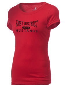 First District Elementary School Mustangs Holloway Women's Groove T-Shirt