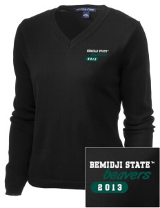 Bemidji State University Beavers Embroidered Women's V-Neck Sweater