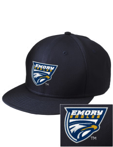 Emory University Eagles  Embroidered New Era Flat Bill Snapback Cap