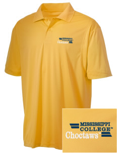 Mississippi College Choctaws Embroidered Men's Micro Pique Polo