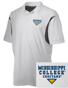 Mississippi College Choctaws Embroidered Men's Back Blocked Micro Pique Polo