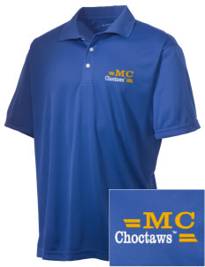 Mississippi College Choctaws Embroidered Men's Double Mesh Polo