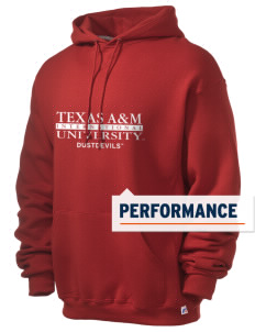 Texas A&M International University Dustdevils Russell Men's Dri-Power Hooded Sweatshirt