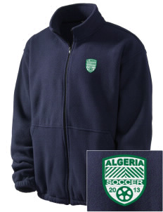 Algeria Soccer Embroidered Men's Fleece Jacket