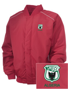 Algeria Soccer Embroidered Russell Men's Baseball Jacket