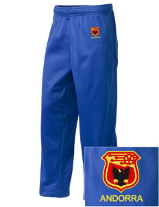 Andorra Soccer Embroidered Holloway Kid's Contact Warmup Pants