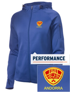 Andorra Soccer Embroidered Women's Tech Fleece Full-Zip Hooded Jacket