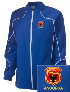 Andorra Soccer Embroidered Russell Women's Full Zip Jacket