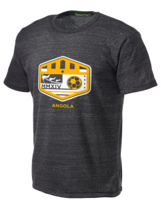 Angola Soccer Alternative Men's Eco Heather T-shirt