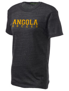 Angola Soccer Embroidered Alternative Unisex Eco Heather T-Shirt