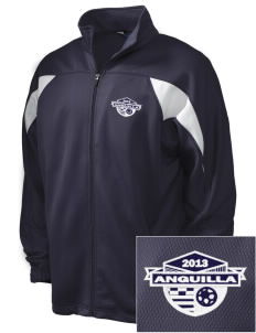 Anguilla Soccer Embroidered Holloway Men's Full-Zip Track Jacket
