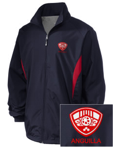 Anguilla Soccer Embroidered Holloway Men's Full-Zip Jacket