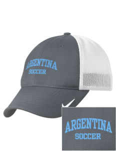 Argentina Soccer Embroidered Nike Golf Mesh Back Cap