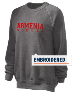 Armenia Soccer Embroidered Unisex Alternative Eco-Fleece Raglan Sweatshirt