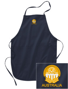 Australia Soccer Embroidered Full Length Apron