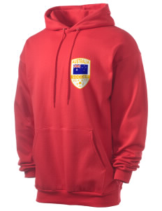 Australia Soccer Men's 7.8 oz Lightweight Hooded Sweatshirt