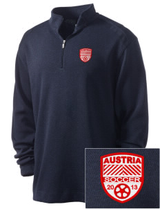 Austria Soccer Embroidered Nike Men's Golf Heather Cover Up