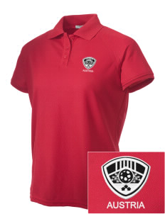 Austria Soccer Embroidered Women's Technical Performance Polo