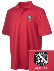 Austria Soccer Embroidered Men's Micro Pique Polo