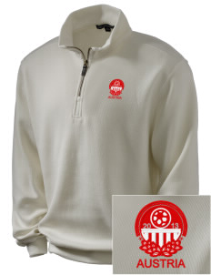Austria Soccer Embroidered Men's 1/4-Zip Sweatshirt
