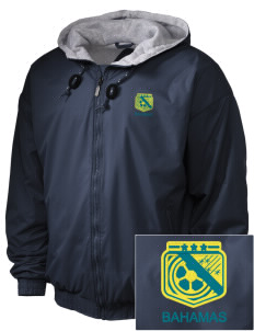 Bahamas Soccer Embroidered Holloway Men's Hooded Jacket