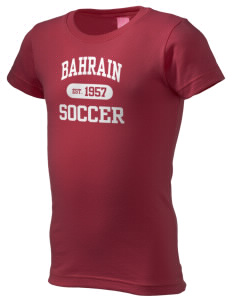 Bahrain Soccer  Girl's Fine Jersey Longer Length T-Shirt
