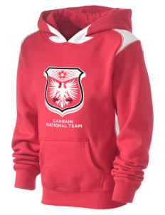 Bahrain Soccer Kid's Pullover Hooded Sweatshirt with Contrast Color