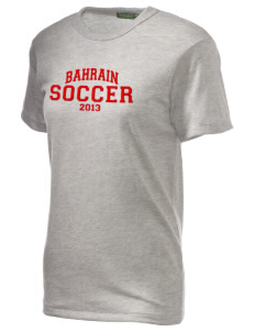 Bahrain Soccer Embroidered Alternative Unisex Eco Heather T-Shirt