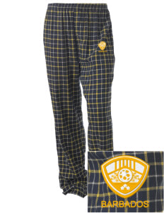 Barbados Soccer Embroidered Unisex Button-Fly Collegiate Flannel Pant