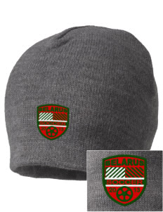 Belarus Soccer Embroidered Beanie