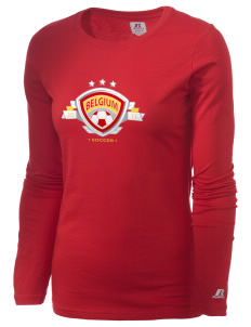 Belgium Soccer  Russell Women's Long Sleeve Campus T-Shirt