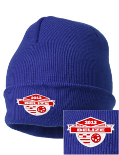 Belize Soccer Embroidered Knit Cap