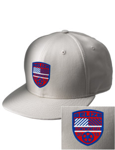 Belize Soccer  Embroidered New Era Flat Bill Snapback Cap