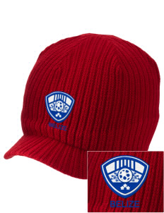Belize Soccer Embroidered Knit Beanie with Visor