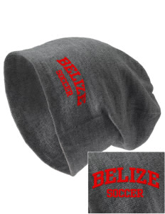 Belize Soccer Embroidered Slouch Beanie