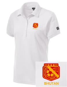 Bhutan Soccer Embroidered OGIO Women's Jewel Polo