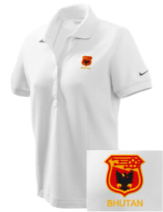 Bhutan Soccer Embroidered Nike Women's Pique Golf Polo