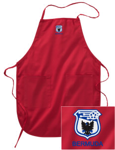 Bermuda Soccer Embroidered Full Length Apron