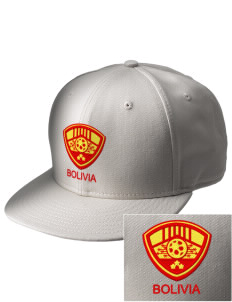 Bolivia Soccer  Embroidered New Era Flat Bill Snapback Cap