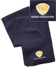 Bosnia-Herzegovina Soccer  Embroidered Knitted Scarf